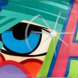 john crash matos, spray paint on canvas
