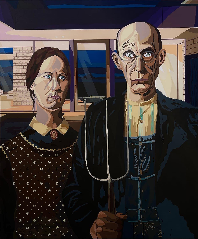 American_Modern_Michael_Callas_Spray_Paint_and_Stencil_on_Canvas_62.5_x_52