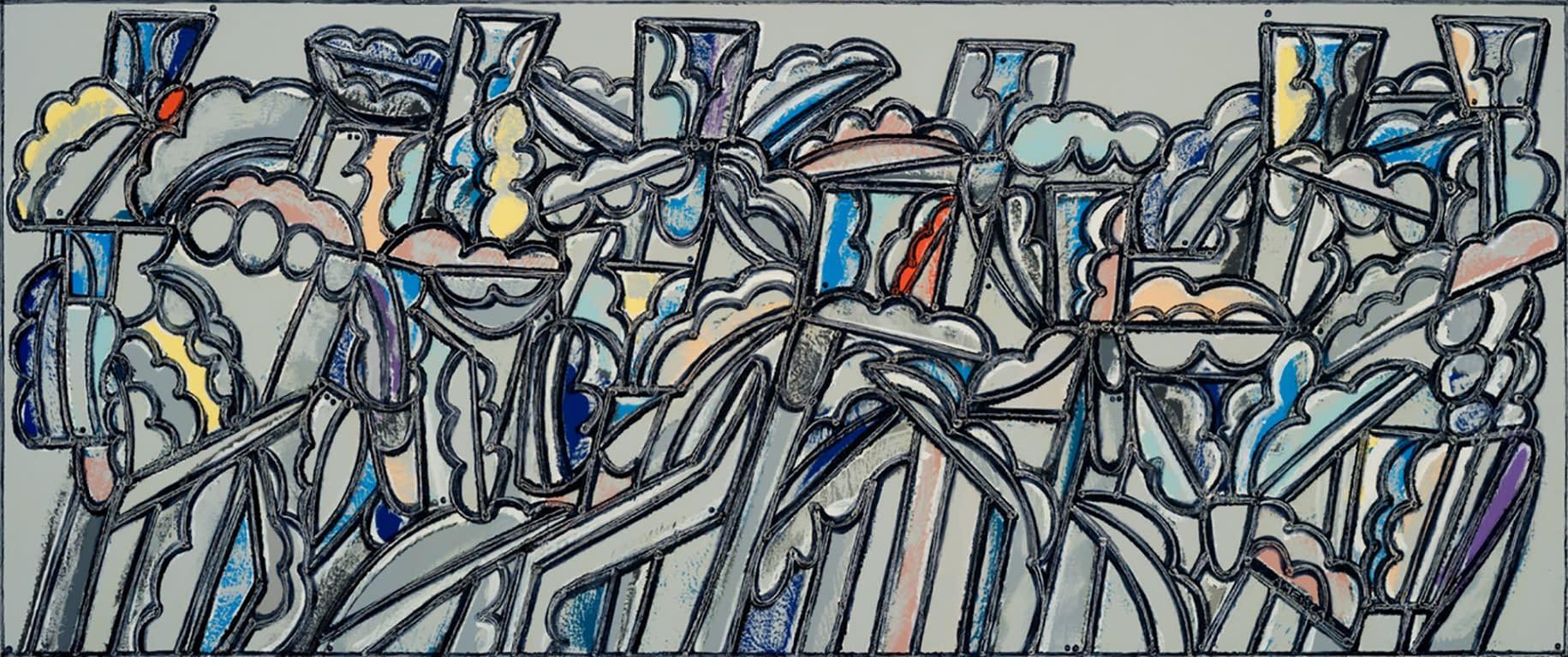 Irises_America_Martin_Oil_Acrylic_on_Canvas_40_x_96