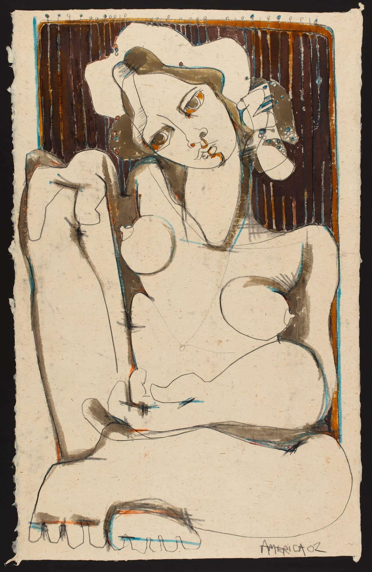 america martin, juliette study, nude, figurative, portrait