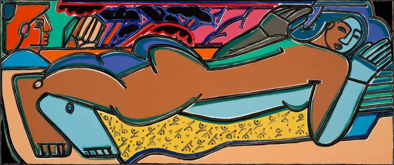 america martin, gauguin, oil and acrylic, figurative art, nude painting, joanne artman gallery