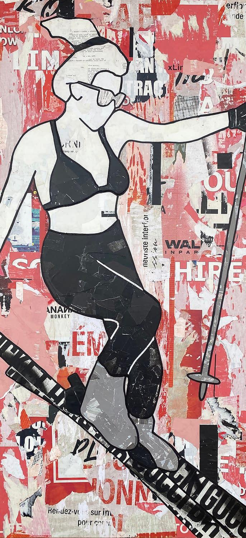 Red Bikini Skier Jane Maxwell