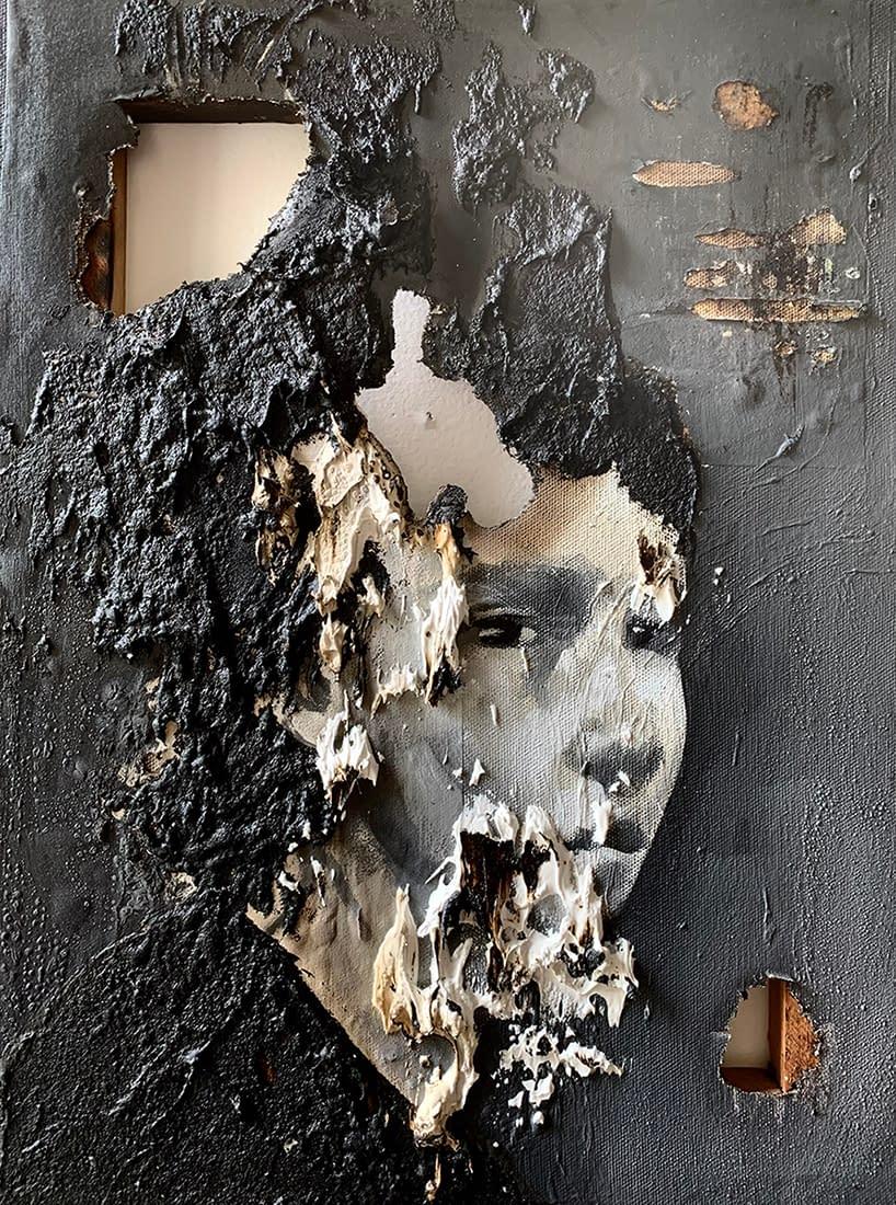 Side_view_Martin_Adalian_acrylic_oil_tar_on_canvas_16_x_12
