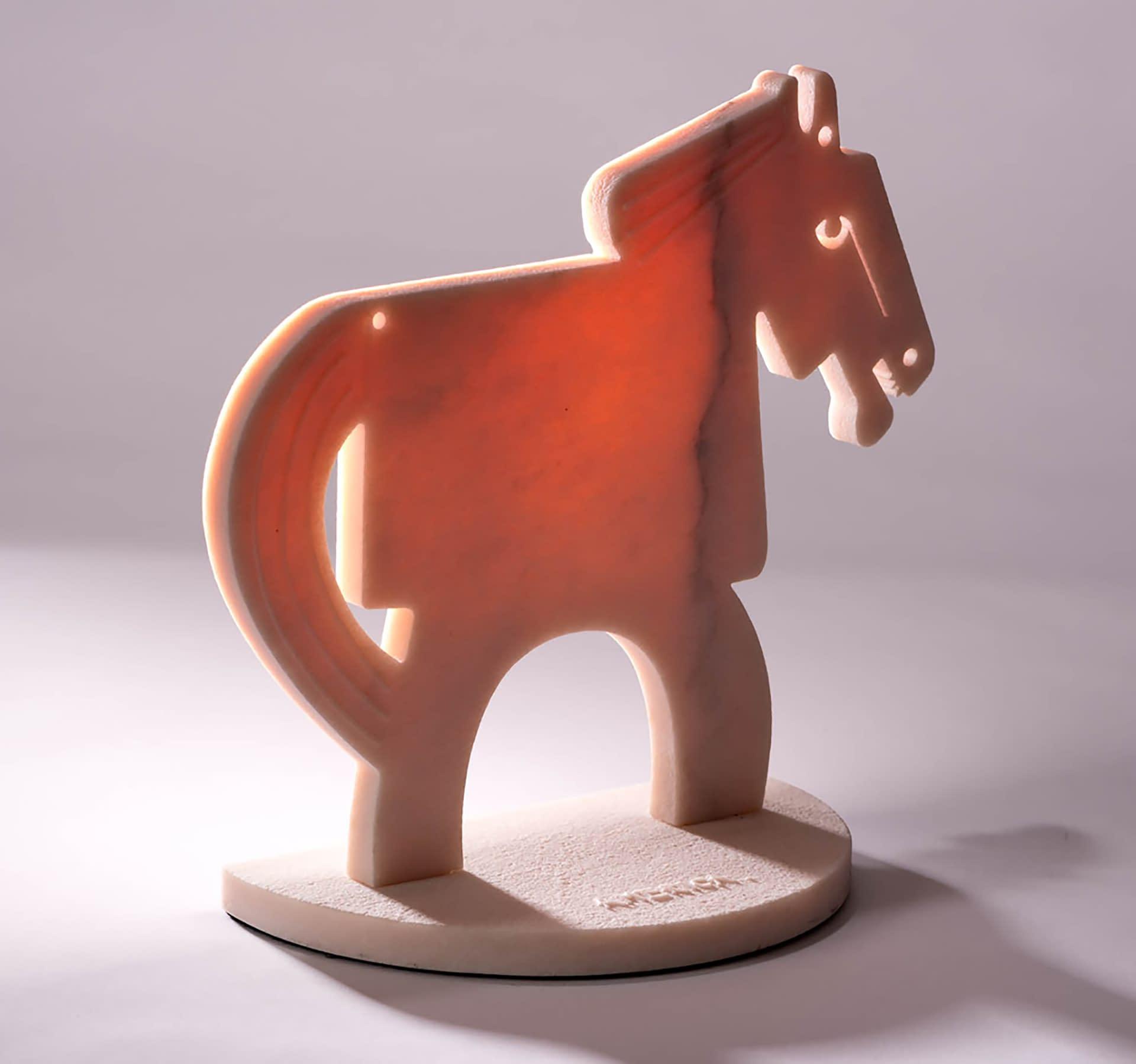 rose quartz horse small
