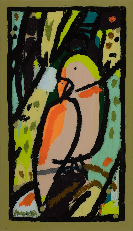 america martin, parrot, bird painting, joanne artman gallery