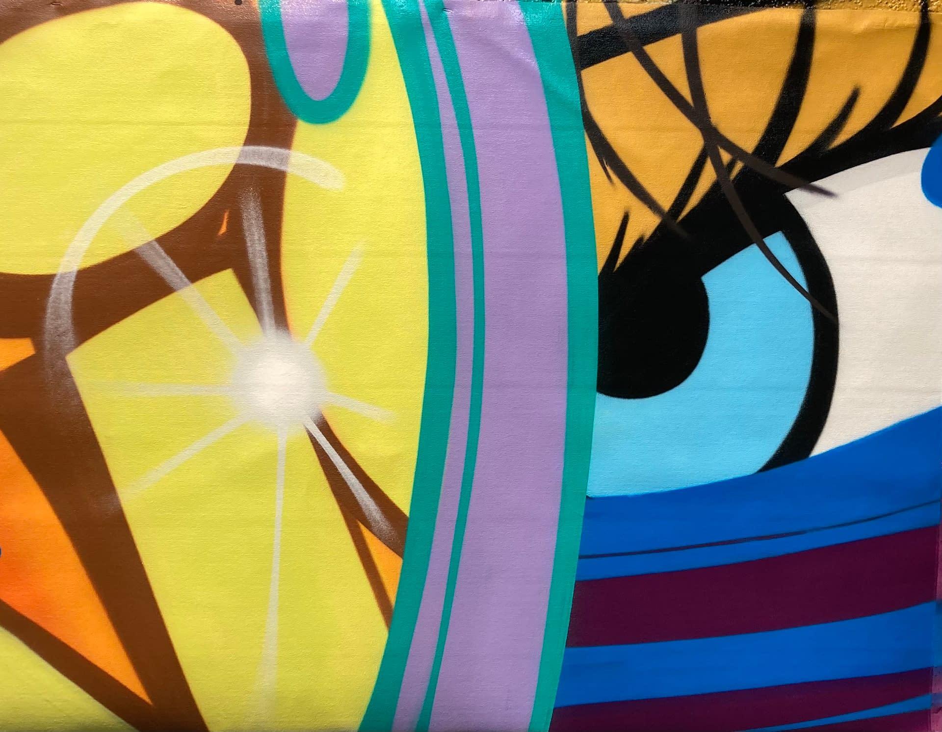 john crash matos spray paint graffiti art on canvas