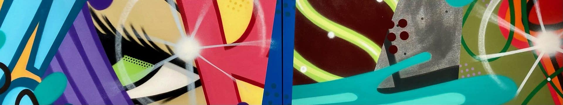 Untitled_Diptych_John_CRASH_Matos_Spray_Paint_on_Canvas_16_x_80