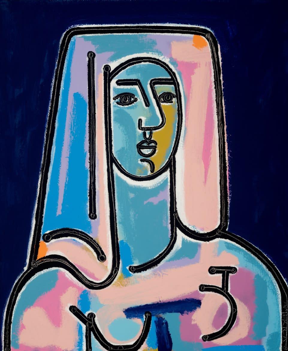 Woman_After_A_Bath_America_Martin_oil_acrylic_on_canvas_34_x_28