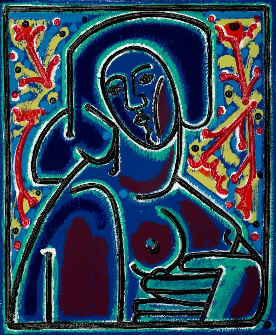 Woman_After_Dusk_America_Martin_Oil_Acrylic_on_Canvas_34_x_28