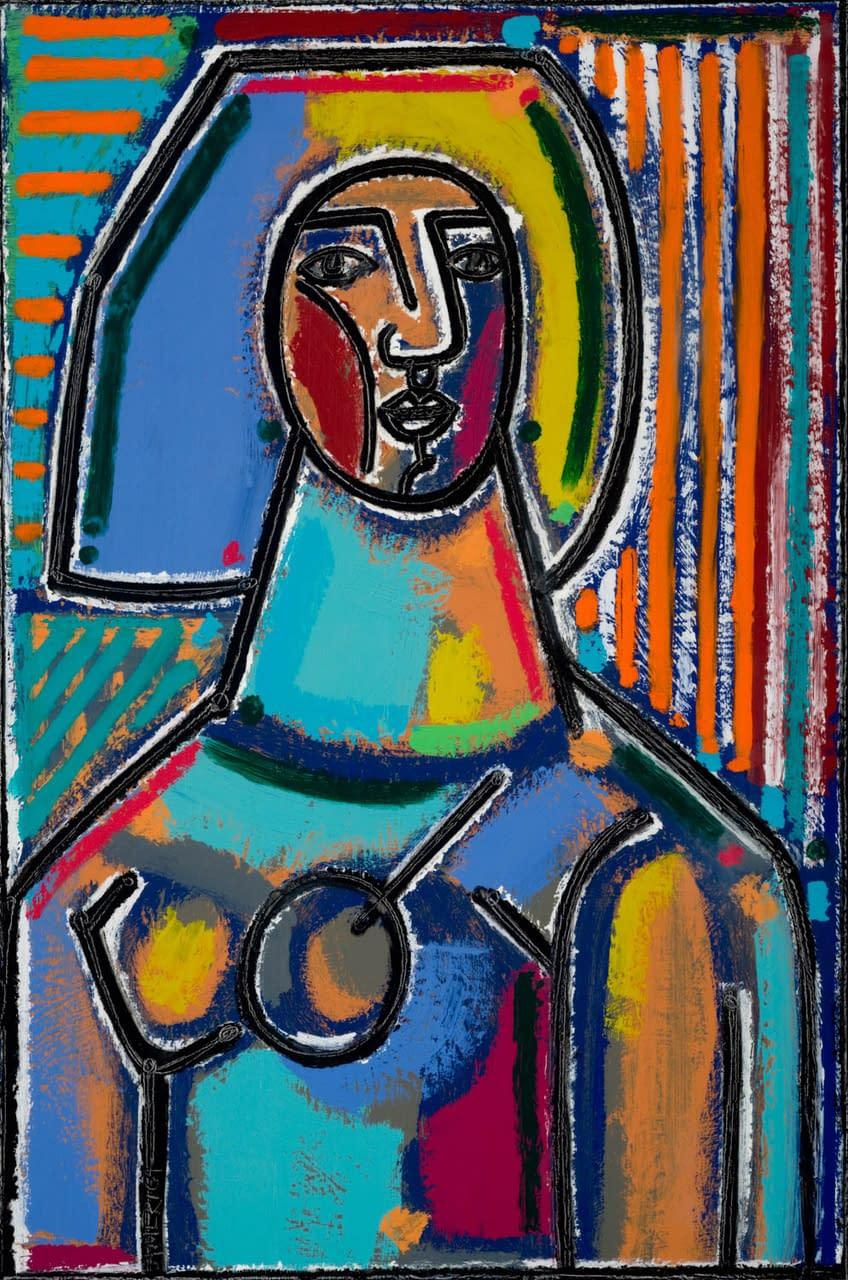 Woman_America_Martin_oil_acrylic_on_canvas_36_x_24
