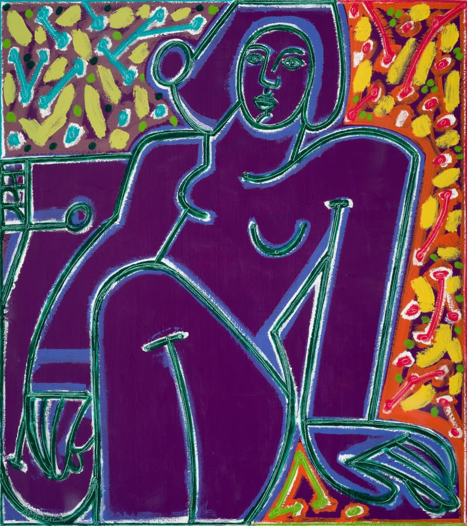 Woman_in_Colors_Deep__Bright_America_Martin_oil_acrylic_on_canvas_47_x_42