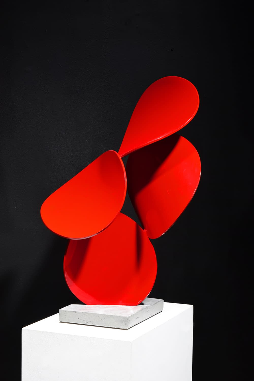 matt devine, abstract sculpture, biomorphic sculpture, bright colors, totem, joanne artman gallery