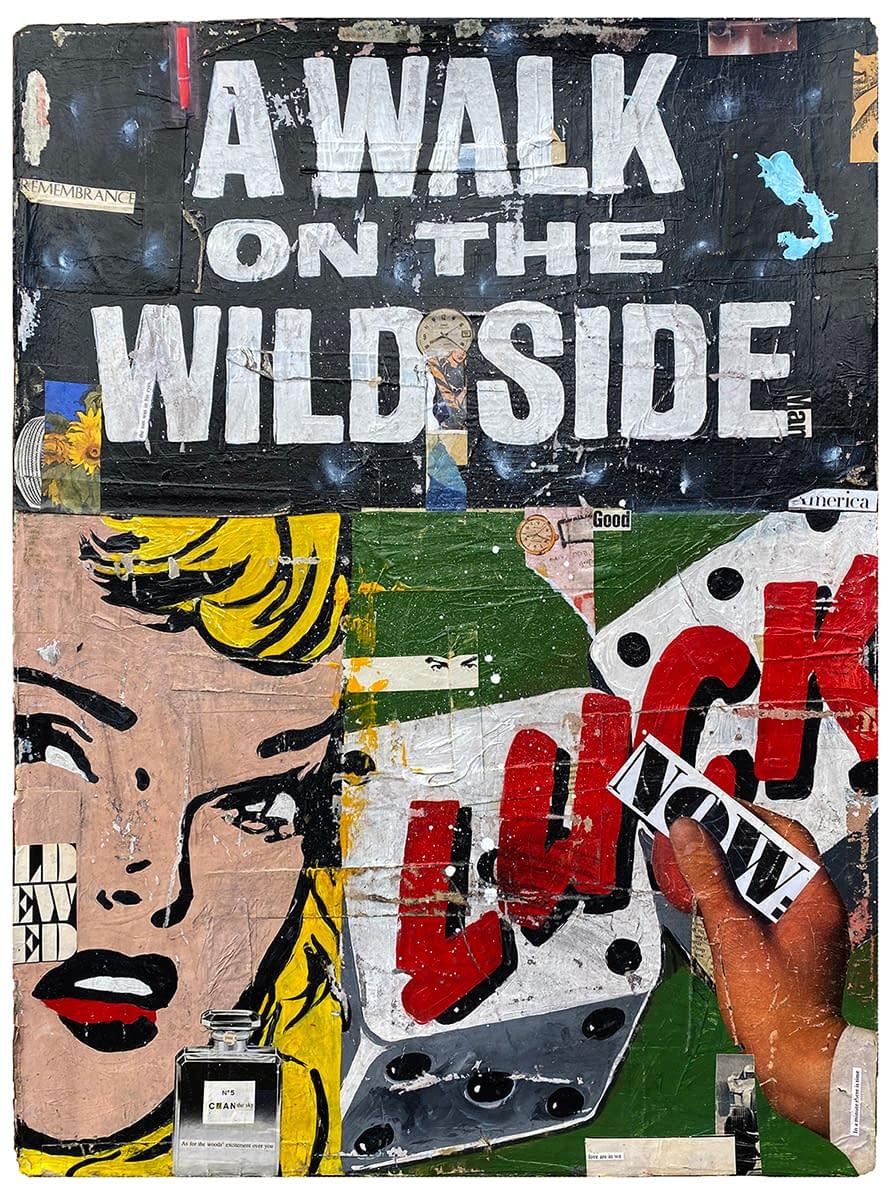 AWalkOnTheWildSide_Greg_Miller_Acrylic_Collage_on_Paper_30_x_23