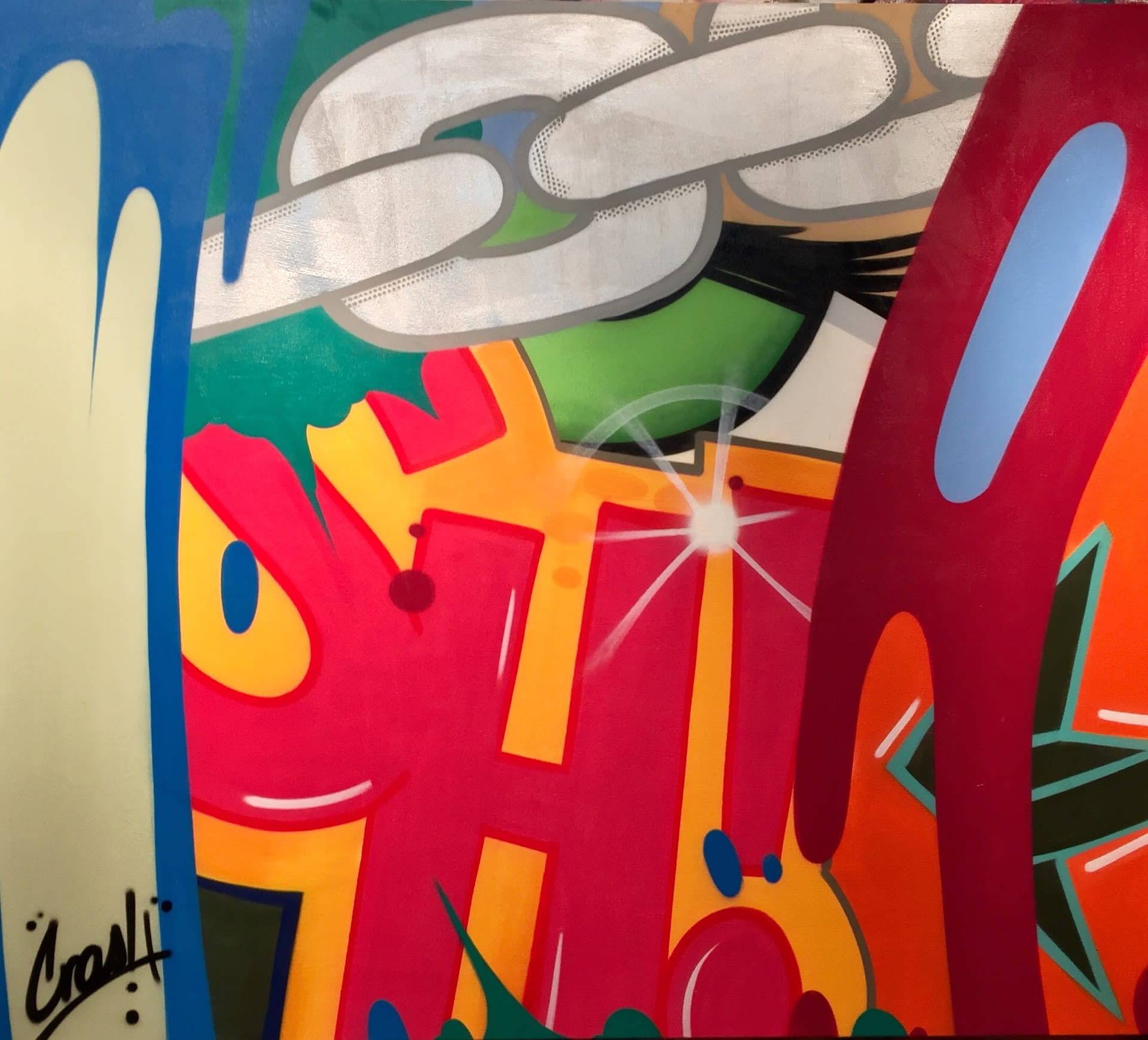 Born_to_Be_Free_CRASH_Spray_Paint_on_Canvas_78_x_87