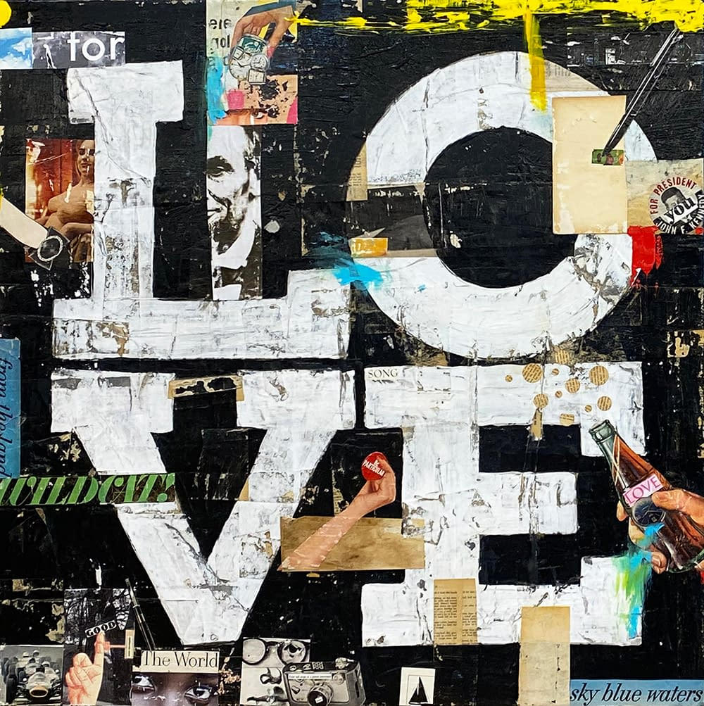 Love_1_Greg_Miller_Acrylic_Collage_Gloss_Varnish_on_Panel_36_x_36