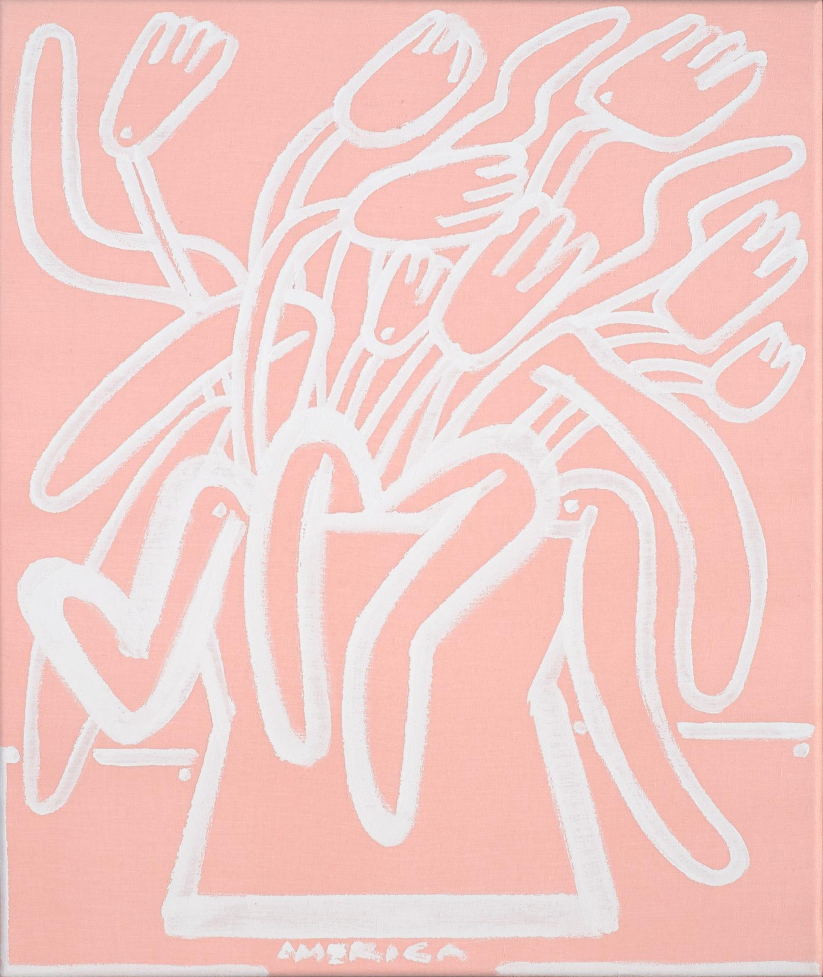 Pink_tulips_acrylic_on_pink_linen_24x20