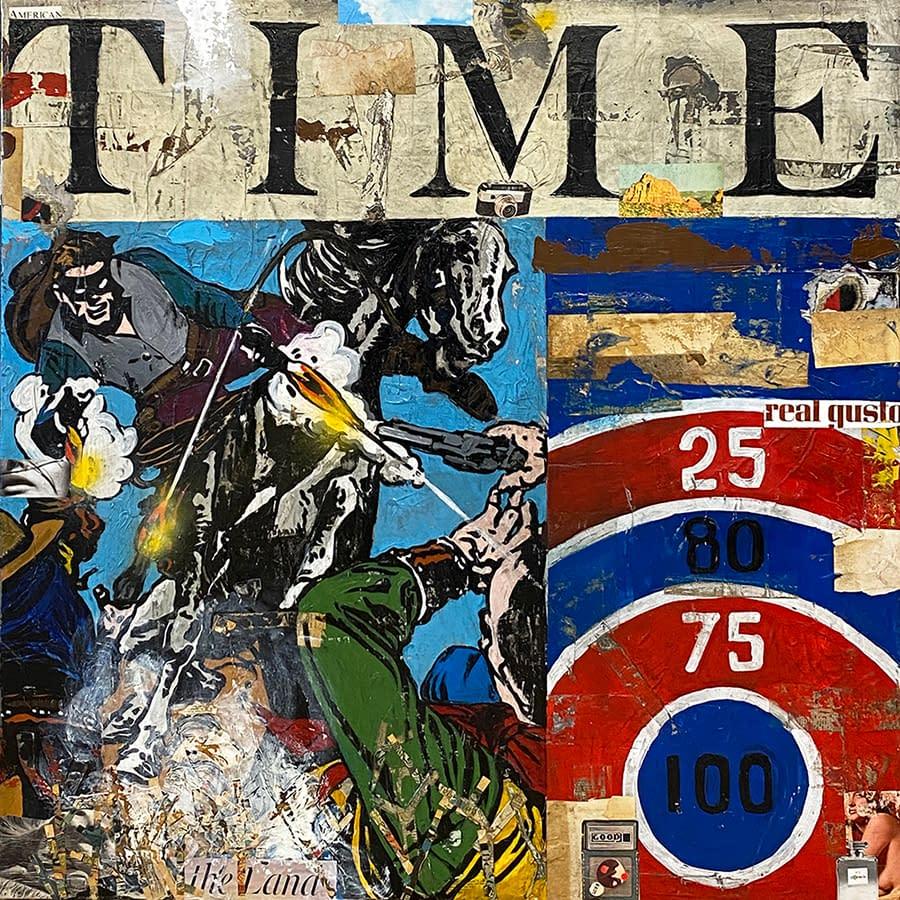Time_Greg_Miller_Acrylic_Collage_Gloss_Varnish_on_Panel_48_x_48