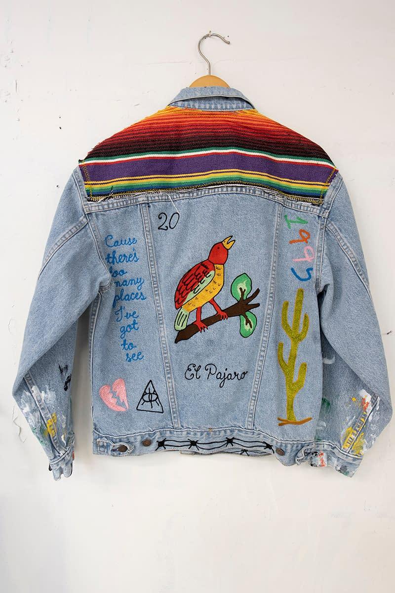 jada_jon_the bird_reworked vintage denim jacket_seeing america_america martin_joanne artman gallery